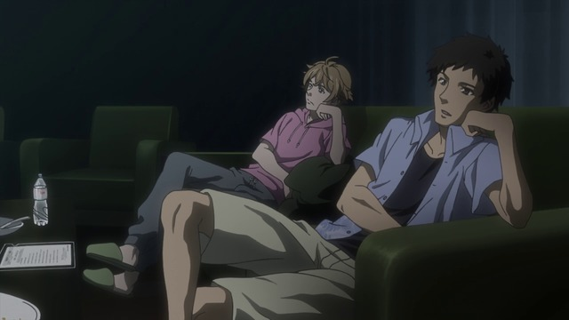 Samurai Flamenco 01 1 Some Guys Sit Around Watching TV